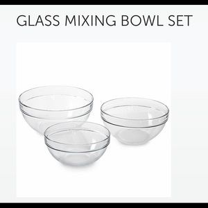 Pampered Chef Glass Mixing Bowl Set